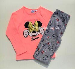 Флисовая пижама для девочки Минни Маус Дисней
