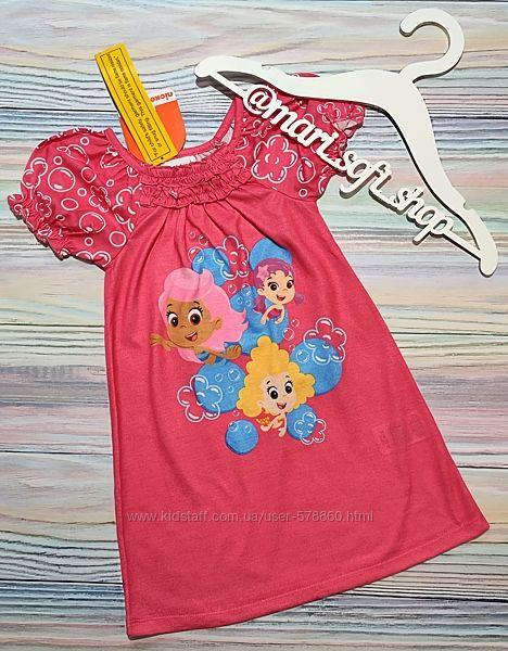 Розовое платье с русалками от Nickelodeon р. 3Т