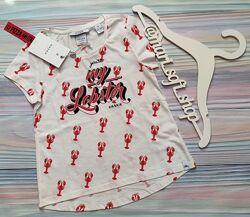 Молочная футболка с раками Nik&Nik р. 8128