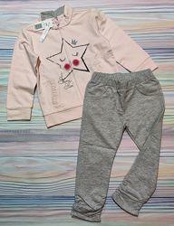 Розово-серый спортивный костюм Idexe р. 98