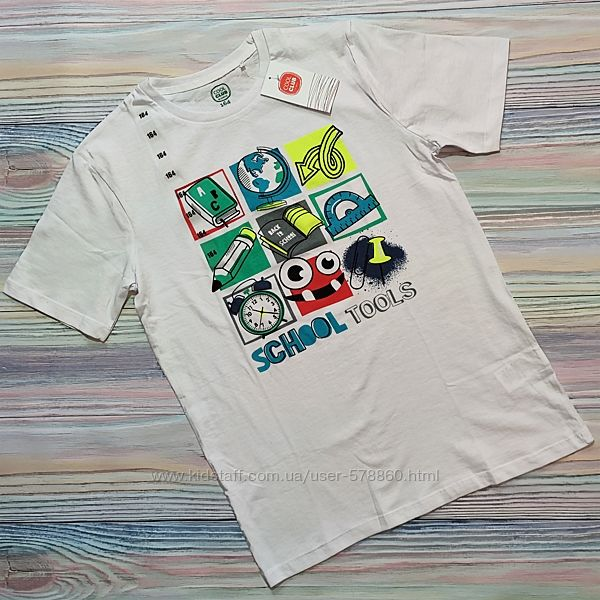 Белая футболка с принтом Cool Club р. 164