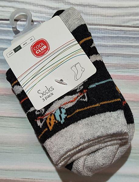 Серо - черные носки с енотами - набор Cool Club р. 25-27