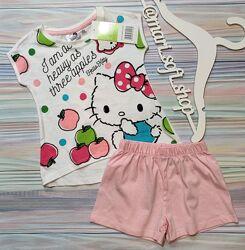 Бело-розовая пижама с Hello Kitty Disney р. 2 года