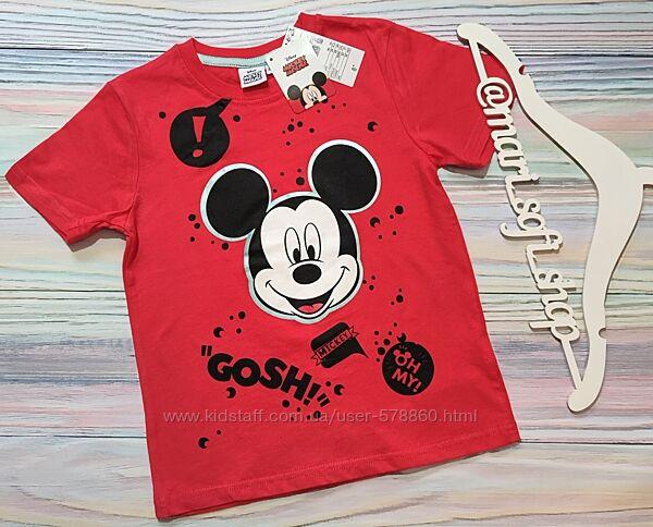 Красная футболка с принтом Микки Мауса Disney р. 5 лет