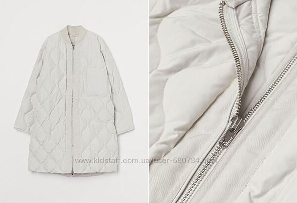 курточка пальто стеганая тренд сезона h&m