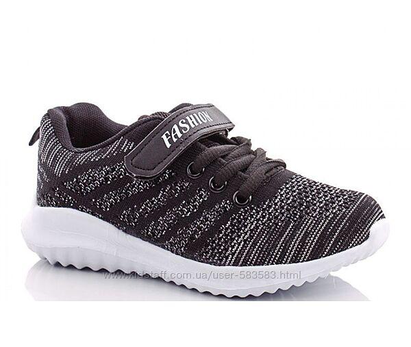 Текстильные кроссовки детские легкие 27-32р черные