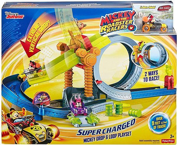 Трек гонки Микки Маус Fisher Price Disney Mickey and the Roadster Racers