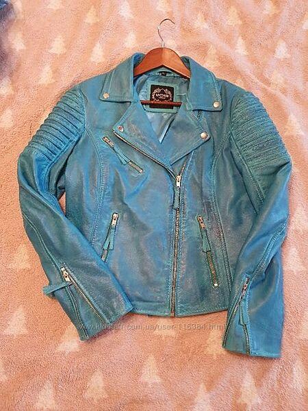 Кожаная куртка, 12 размер