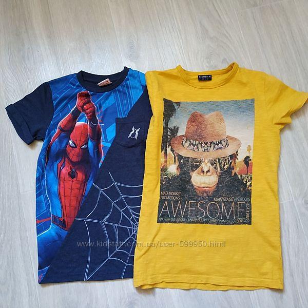 Фирменные футболки для мальчика в отличном сост. 8-9л