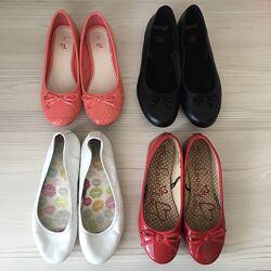 Кожаные школьные туфли на девочку р. 35-36 Стелька 225-23 см