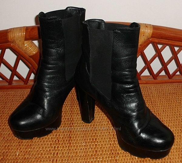 Ботинки ботильоны демисезонные натуральная кожа 36 ст. 24 см