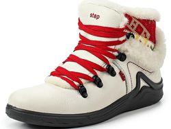 Ботинки спортивные натуральная кожа и мех S-tep р. 36 ст. 24 см