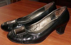 Туфли черные натуральная кожа POLANNI 39-40 ст. 26 см