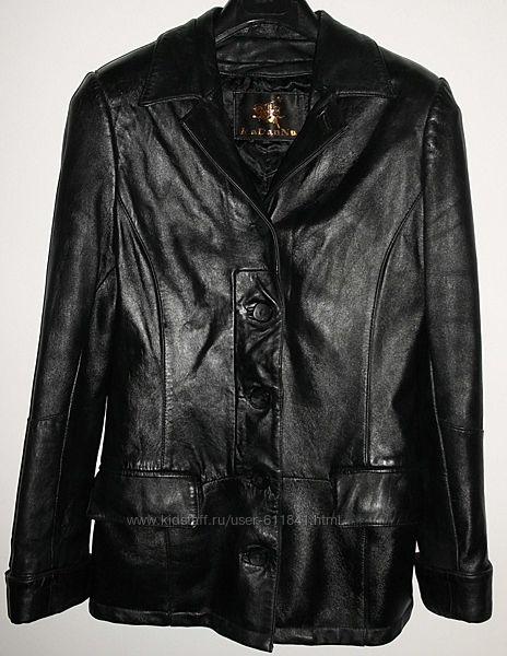 Куртка черная женская утепленная натуральная кожа р. 40-42