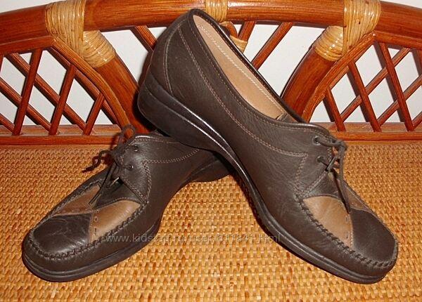 Туфли натуральная кожа Amber Италия р. 41 ст. 26.5 см
