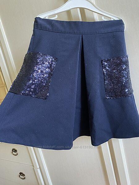Наряды для школьницы в синем цвете 7-8 лет Artigli Monalisa