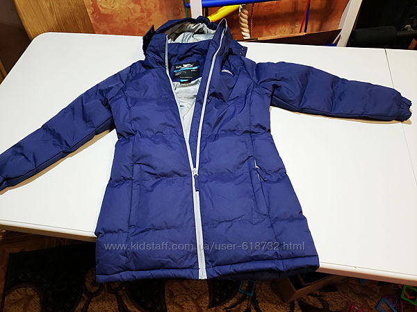 Удлинённая куртка Trespass, пальто на девочку 7-8 лет