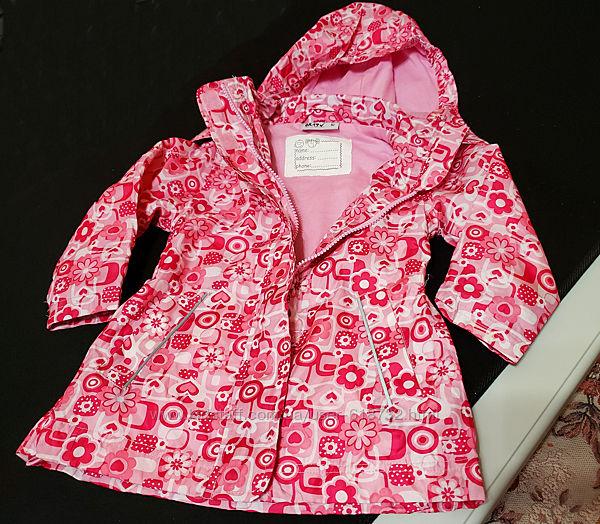 Красивая куртка, ветровка на девочку 1-2 года  Okay