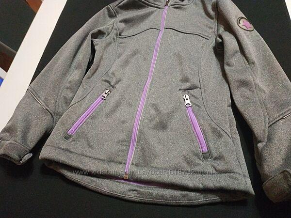 Куртка деми crane софтшелл на девочку 6-8 лет на рост 122-128