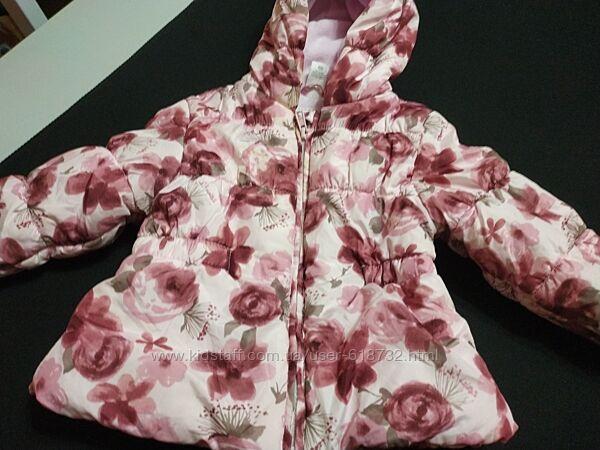 Демисезонная куртка на девочку 1 года, 6-12 месяцев