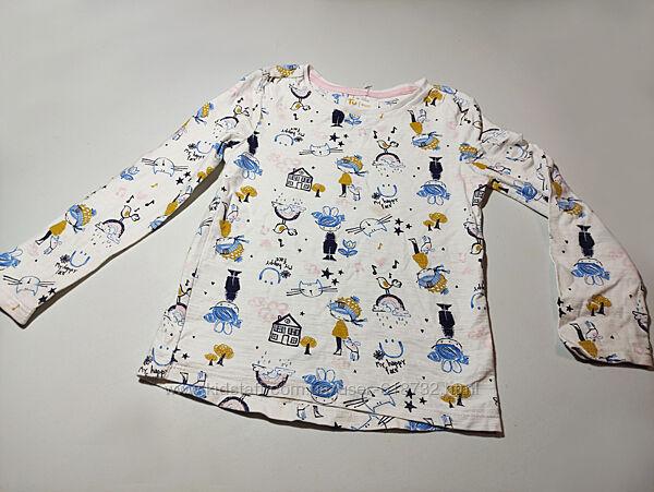 новая Хб кофта, свитер, лонгслив на девочку 3-4 года