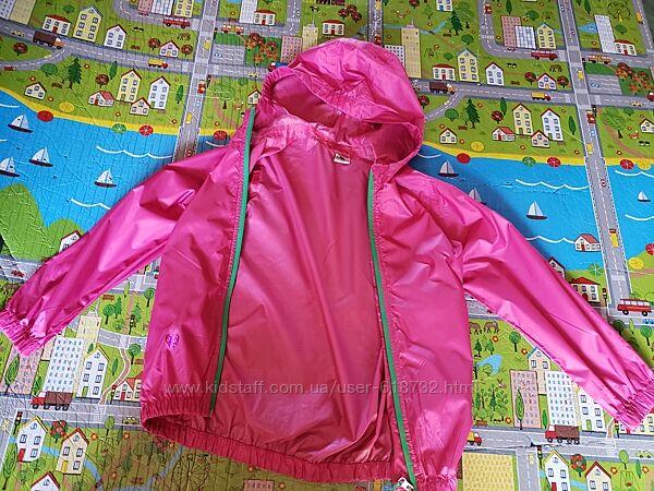 Фирменная красивая куртка, курточка, ветровка, дождевик Crane на девочку 7-