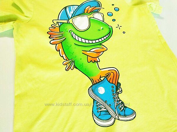 Красивая футболка хб на мальчика 6-8 лет