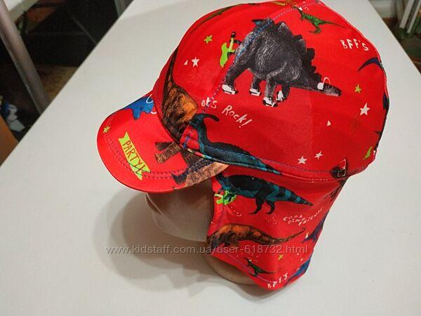 Фирменная кепка, панамка для моря с динозаврами на мальчика 1-2 года, Georg