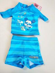 Красивый купальный костюм плавки  футболка на 0-3 месяца