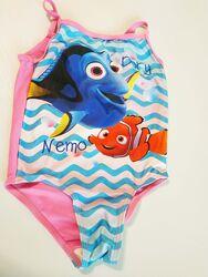 Красивый купальник В Поисках Немо на девочку 2-3 года, 98 см