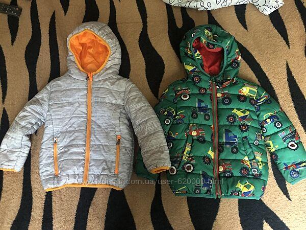 стильная куртка-ветровка tu на 1, 5-2 года в идеале, как новая