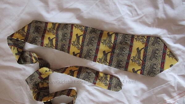 Редкий коллекционный галстук в египетском стиле Италия Andgelo Litrica