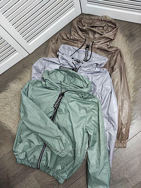 Лёгкая ветровка , куртка беж, зелёный, лаванда