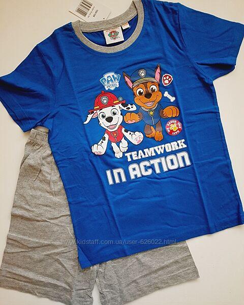 Комплект футболка и шорты, пижама щенячий патруль 122-128 Disney