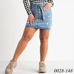 Джинсовая юбка Турция женская с потертостями