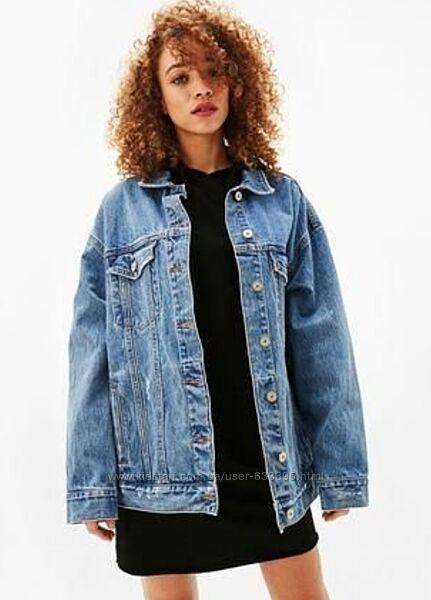 Bershka куртка джинсовая р. XS б/у