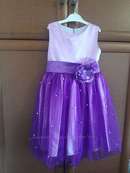 Нарядное платье на девочку от 5 до 7 лет