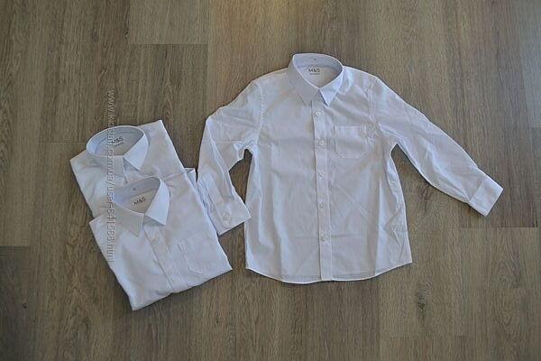 Новые белые рубашки ф. Marks&Spencer Бангладеш р. 5-6 лет 116 см