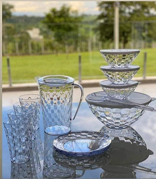 Чаши, кувшин, тарелки, стаканы Бриллиант Tupperware в ассортименте