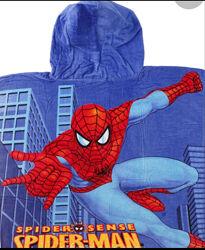 Детское пончо-полотенце для деток. Человек паук