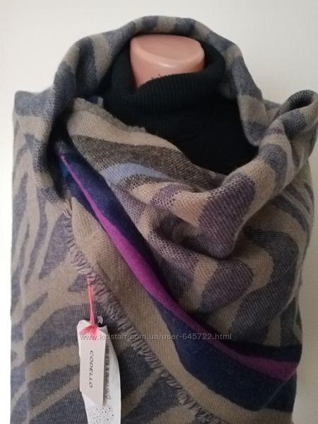 Двусторонняя шаль платок шарф палантин 140/140 преми