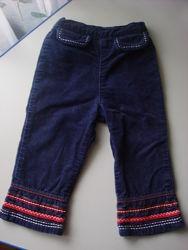 Штаны брюки синие вельветовые бархатные Mini Mode 86-92 см, 2 года