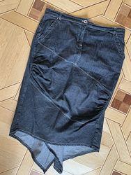 юбка годе джинсовая bgn just  с хвостом сзади, euro 40, us 8, uk 12