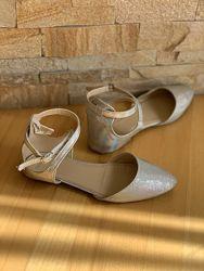Туфли gymboree us 2, размер 33, блеск, хамелеон, 21,5 см стелька, переливаю