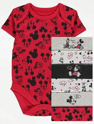 Боди George Disney Mickey Mouse 3-6, 6-9, 9-12, 12-18 мес