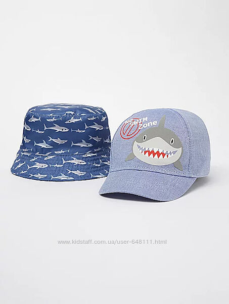 Панамка и кепка George Blue Shark Bucket 1-3, 4-8 лет