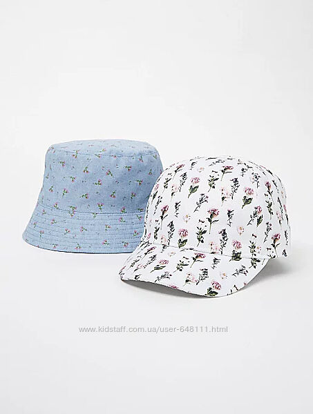 Панамка и кепка George Blue Floral Bucket 4-8 лет, 104-128 см