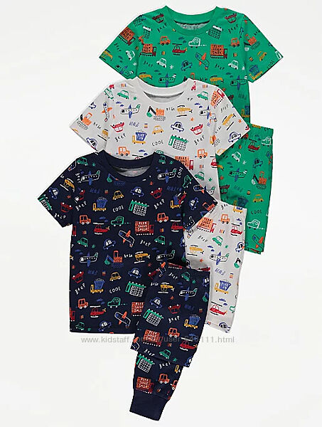 Пижамы George Transport 3-4, 5-6 лет
