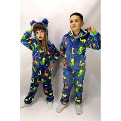 Тёплые сдельные пижамы слипер кигуруми детские