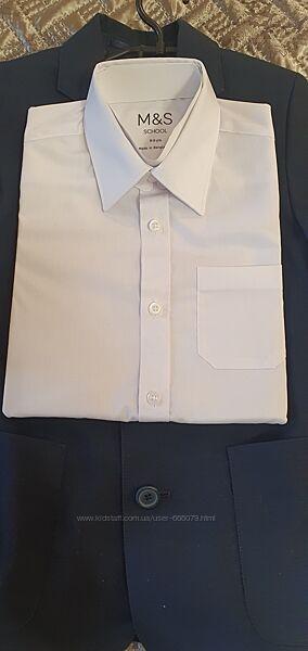 Рубашка  M&S на мальчика, короткий рукав, размер 8-9 лет, рост 128-134 см